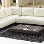 Affordable Modern Beige Leather Sectional Sofa