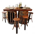 New Wine Barrel Pub Table Bar