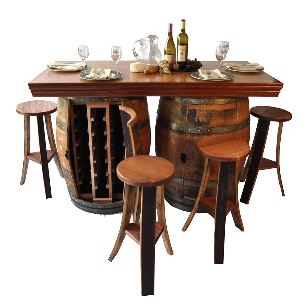 Image of: New Wine Barrel Pub Table Bar
