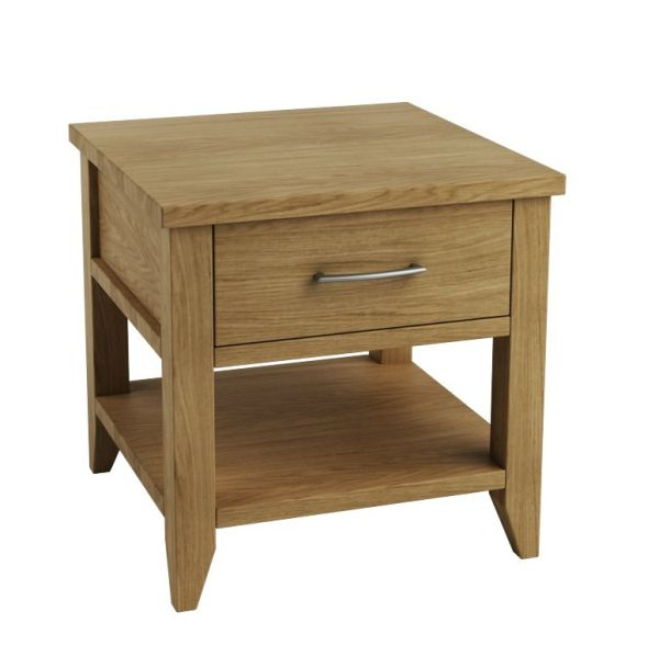 Picture of: Oak bedside table