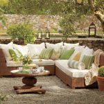 Outdoor sectionals with cushion