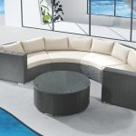 Round outdoor sectionals sofa