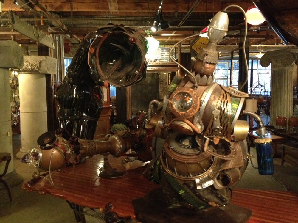 Image of: Rustic Steampunk Furniture Style