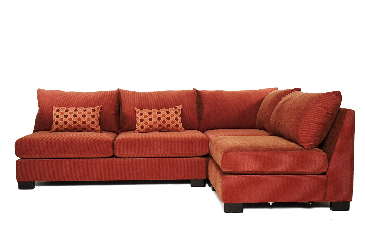 Image of: Small Armless Sectional Sofas
