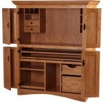 Solid large desk armoire