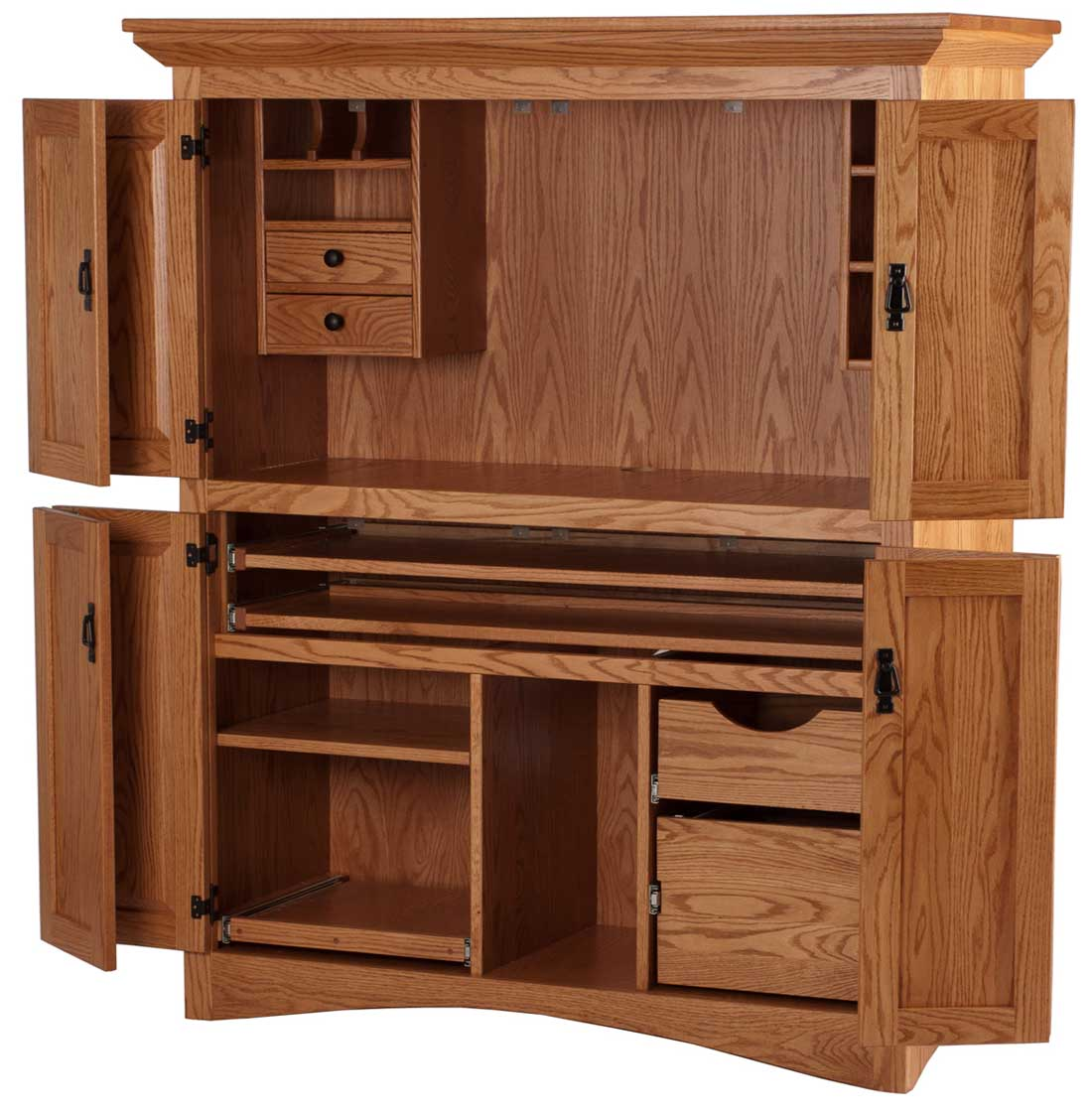 Image of: Solid large desk armoire
