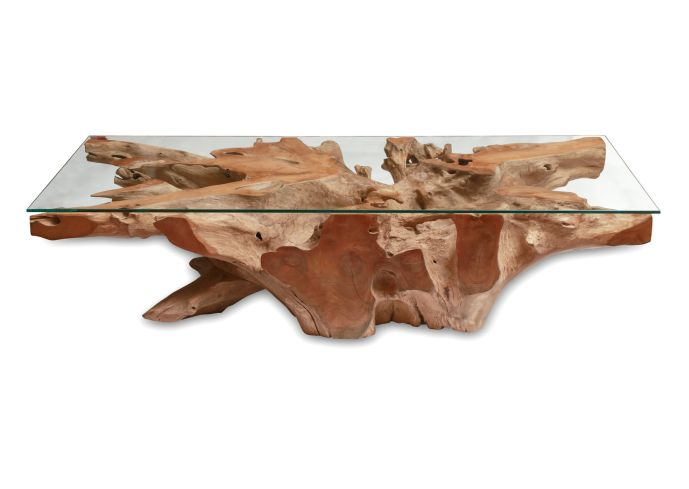 Picture of: Square driftwood coffee table