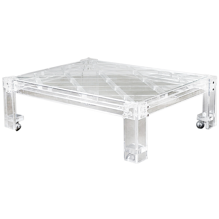 Image of: Vintage acrylic coffee table