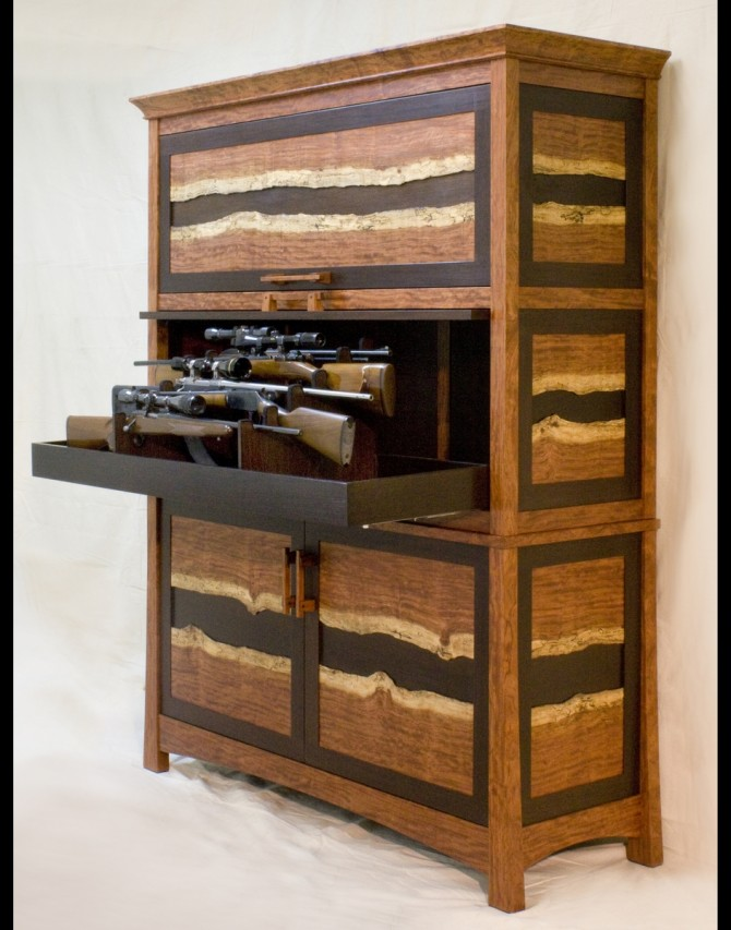 Picture of: Wenge hidden gun cabinet