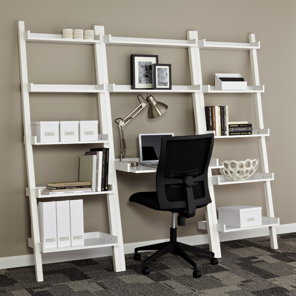Picture of: White leaning desk