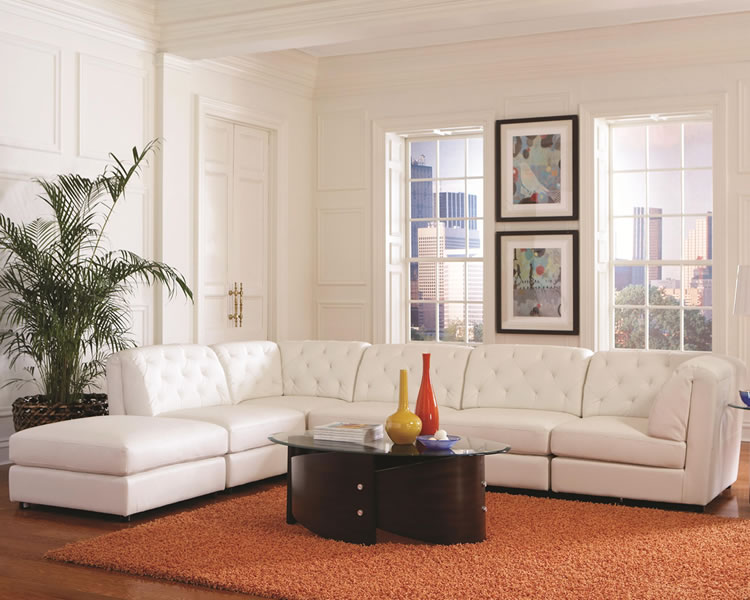Picture of: White modular sectional sofa