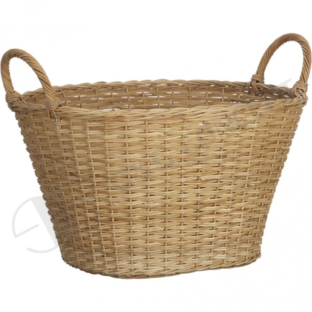 Image of: Wicker laundry basket
