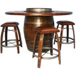 Wine Barrel Bistro Table Set