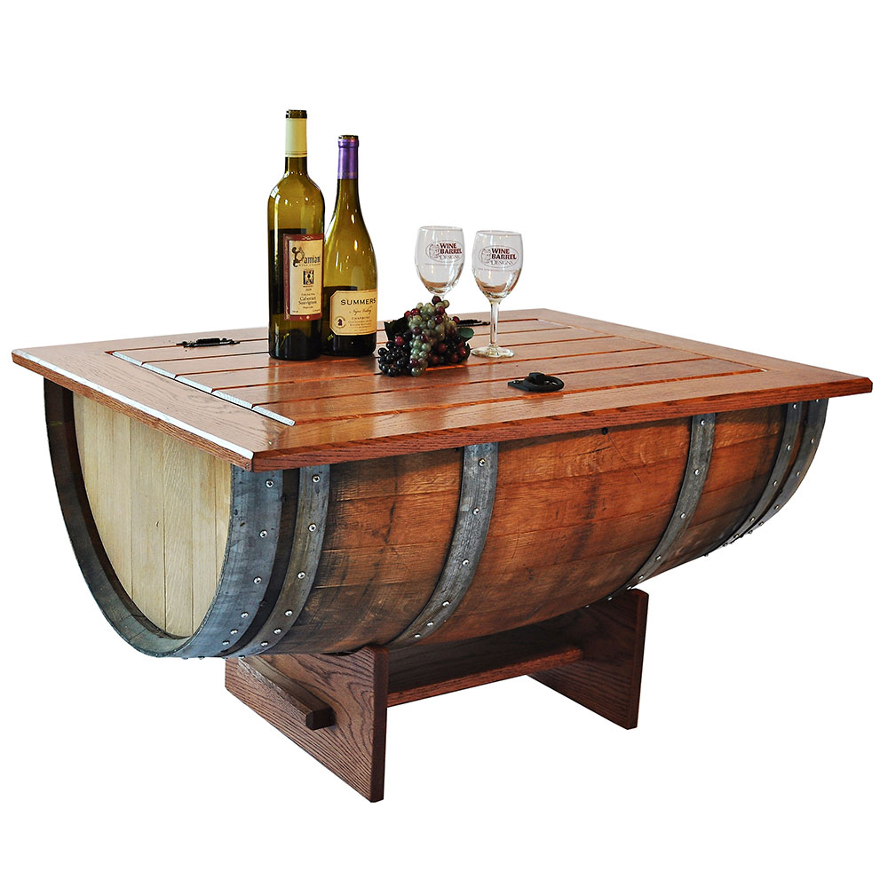 Image of: Wine Barrel Coffee Table