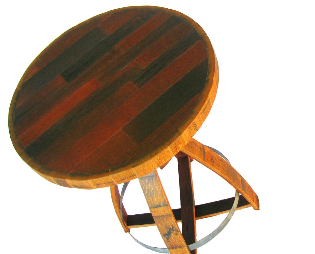 Image of: Wine Barrel Table Best