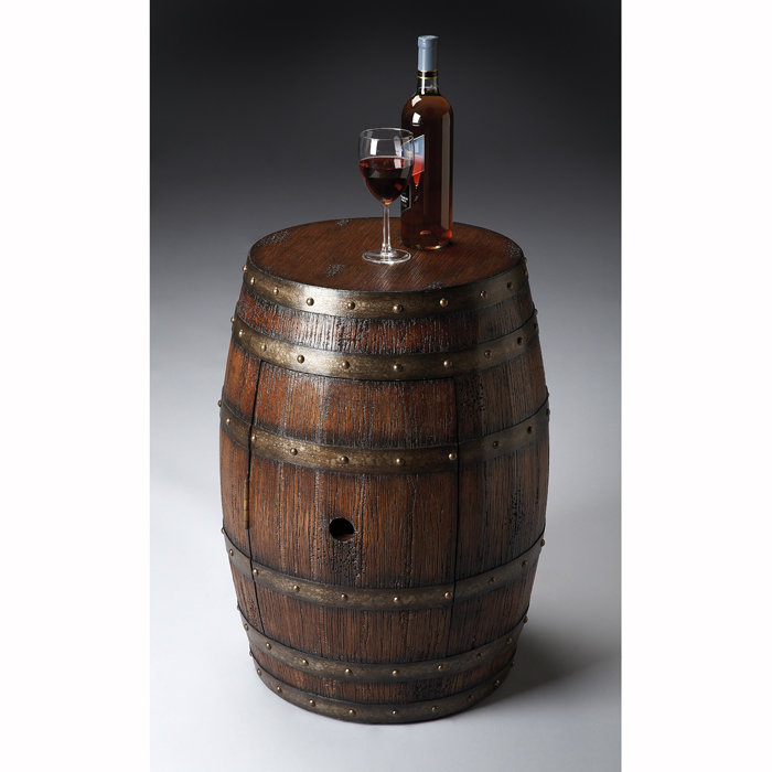 Image of: Wine Barrel Table Design