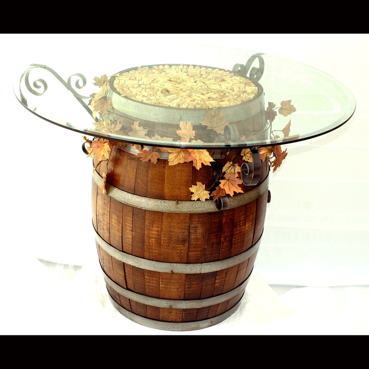 Image of: Wine Barrel Tables Picture