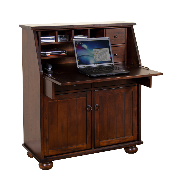 Image of: Wooden desk armoire ideas