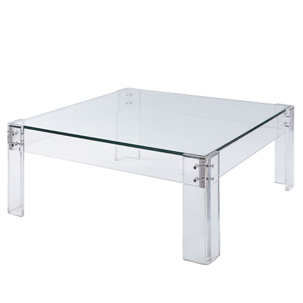 Image of: acrylic coffee table furnitures