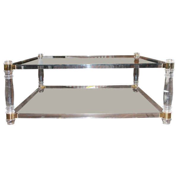 Image of: awesome acrylic coffee table