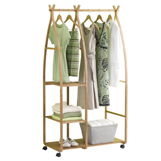 Image of: bamboo garment racks