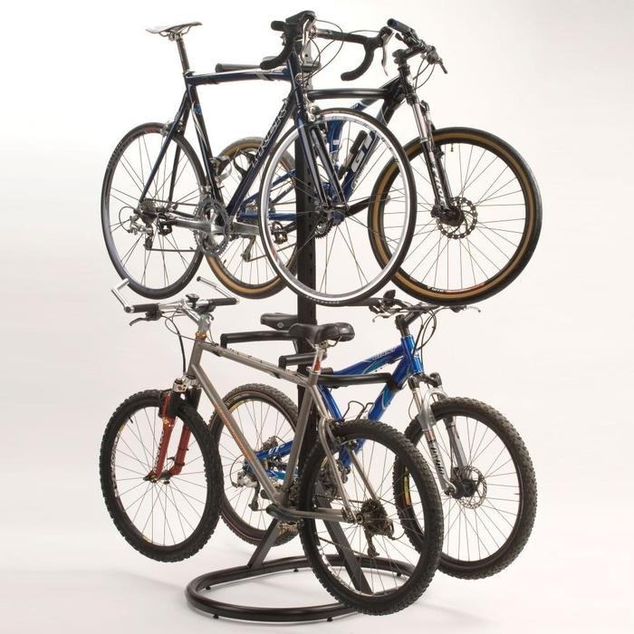 Image of: bike rack garage design images