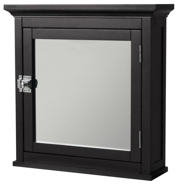 Image of: black frame mirrored medicine cabinet
