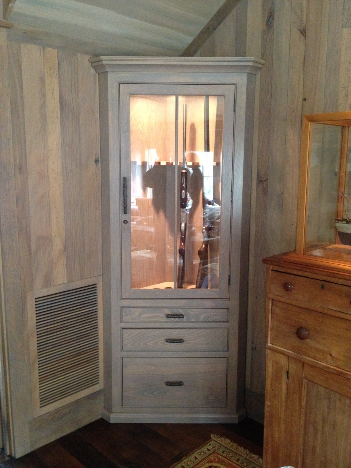 Image of: custom hidden gun cabinet