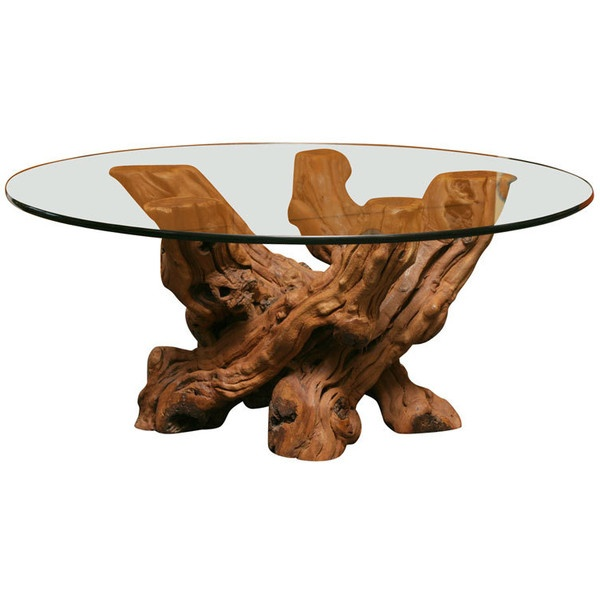 driftwood coffee table decoration ideas