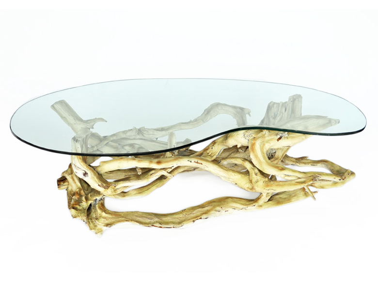 driftwood coffee table decoration