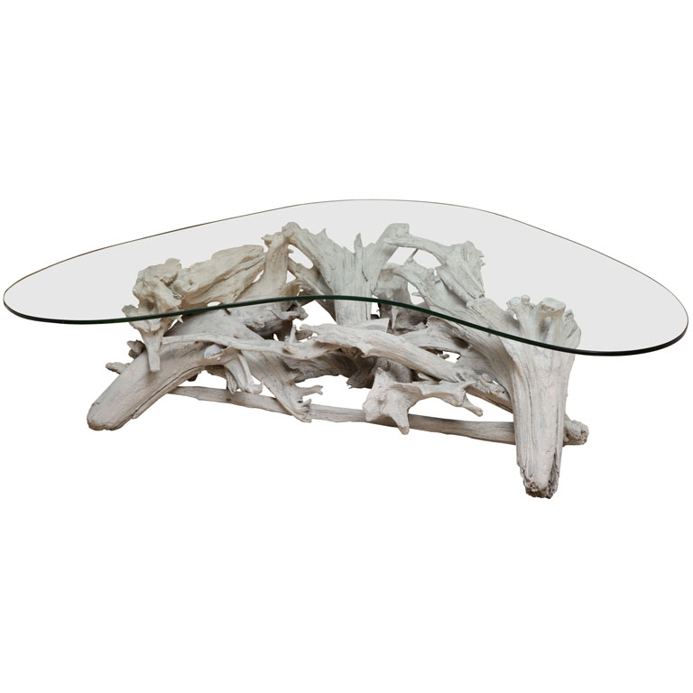 Image of: driftwood coffee table picture