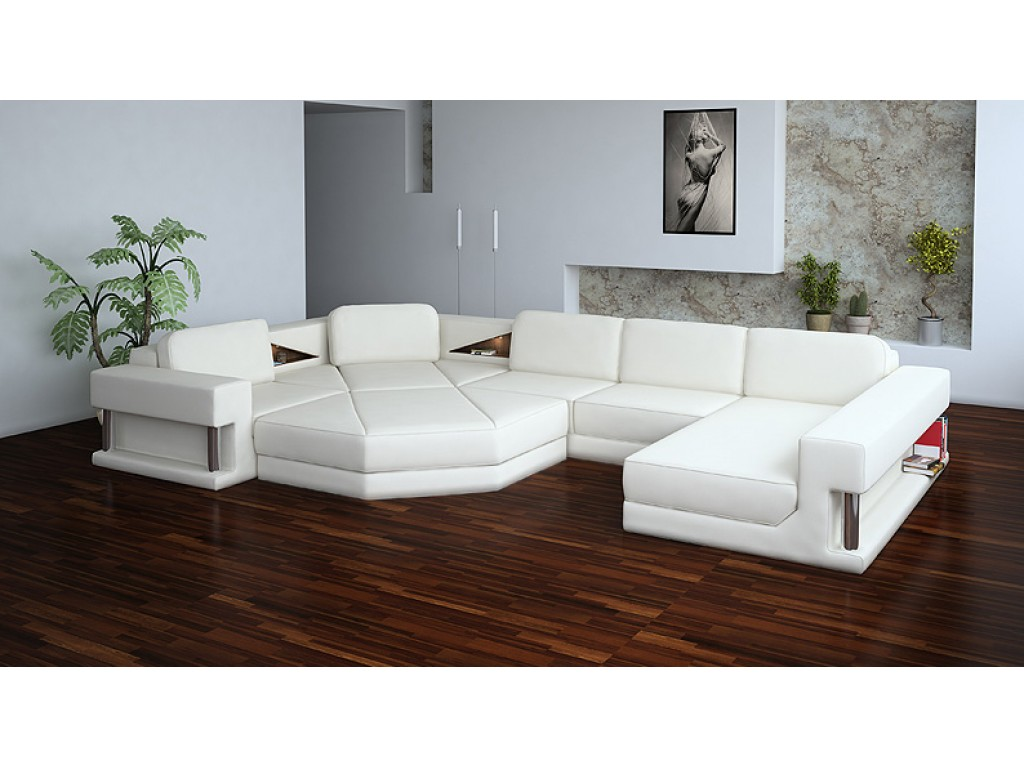 Picture of: elegant white sectional sofa