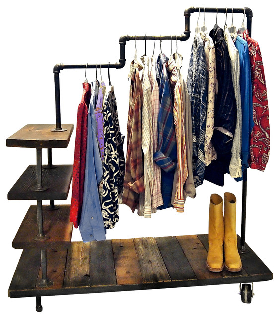 Image of: Small garment racks ideas