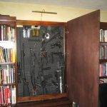 hidden gun cabinet design