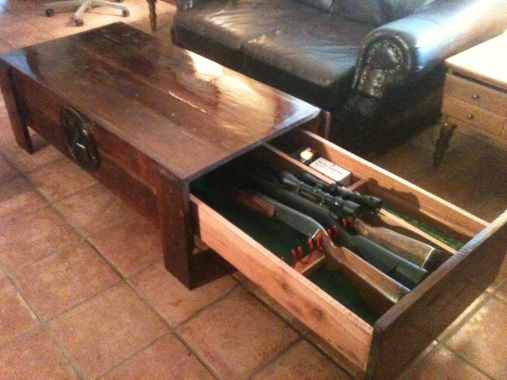 Image of: hidden gun cabinet ideas