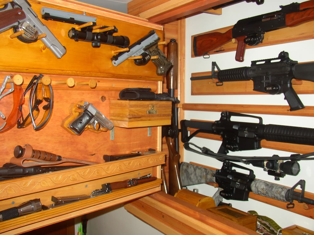 Picture of: Hidden Gun Cabinet