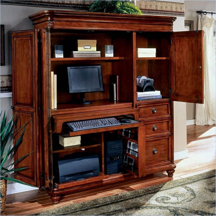 Image of: ideas desk armoire computer