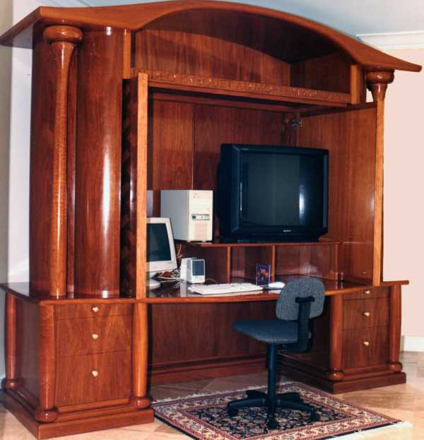 Image of: large desk armoire