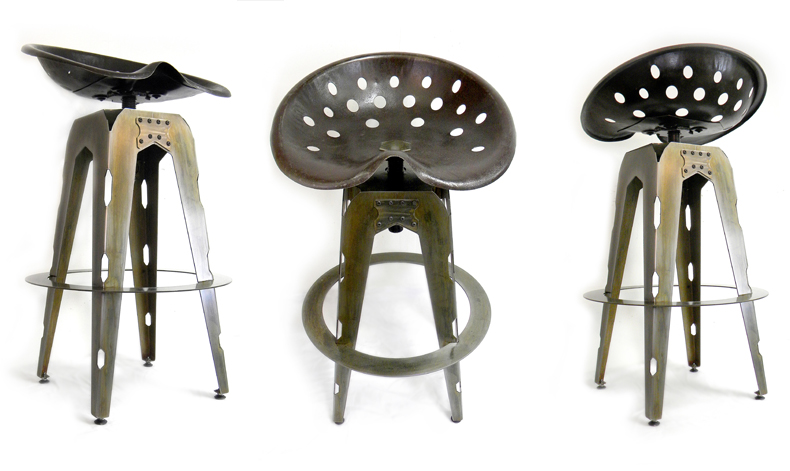 Image of: large tractor seat bar stools