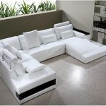 large white sectional sofa