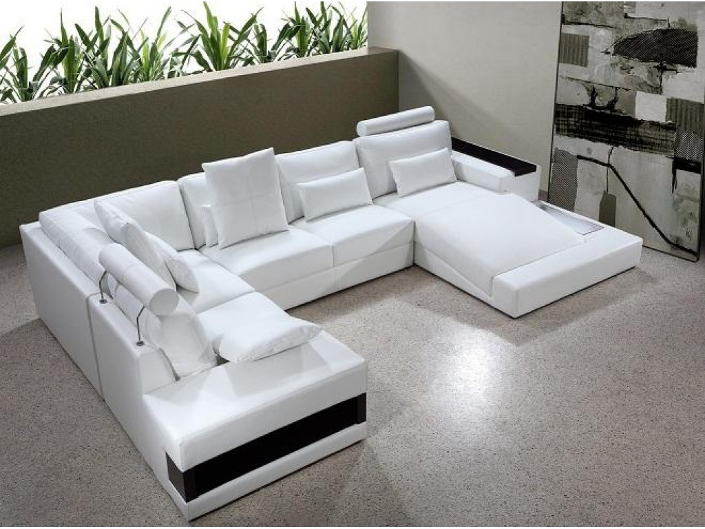 Picture of: large white sectional sofa