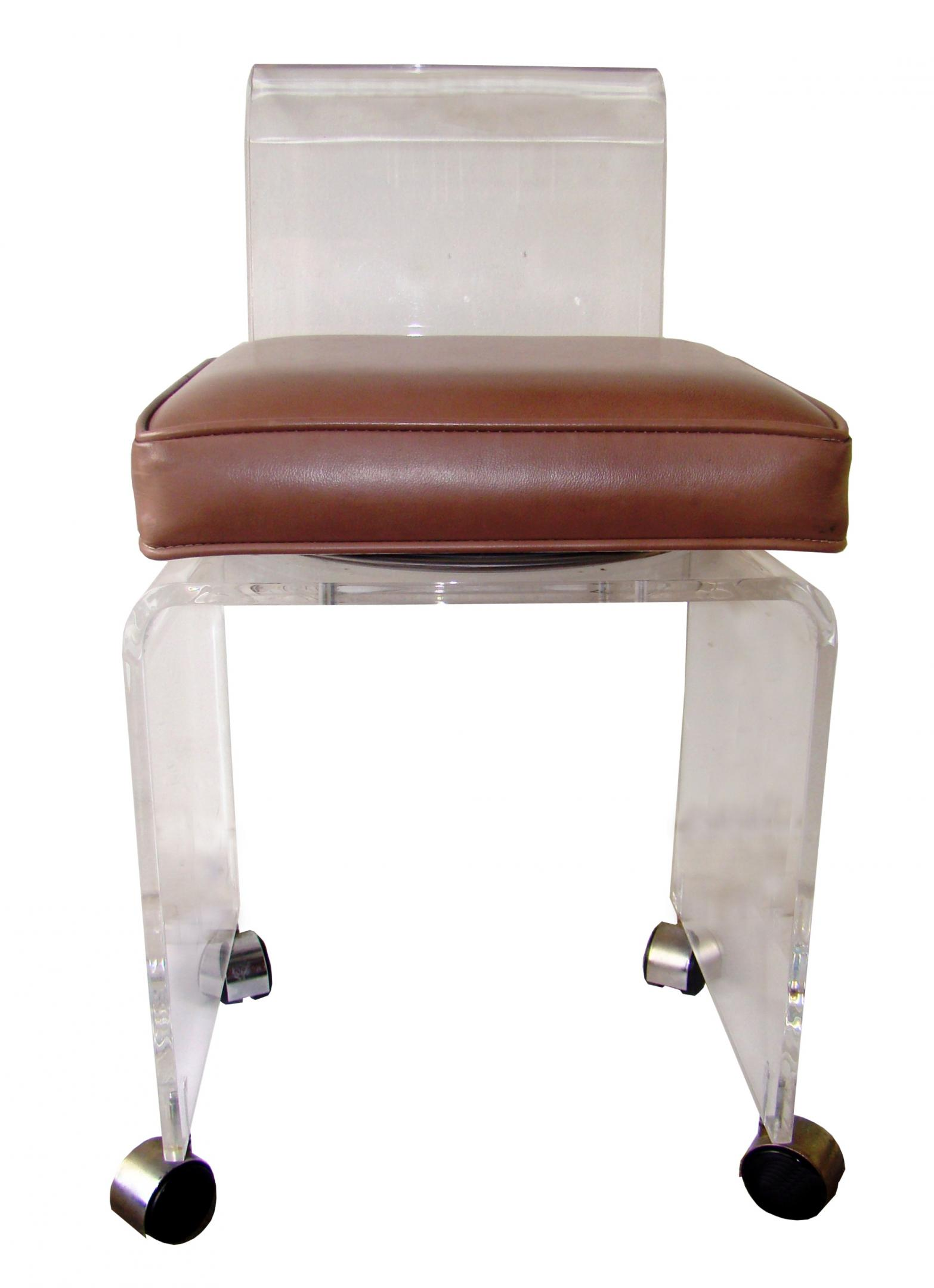 Picture of: lucite vanity stool