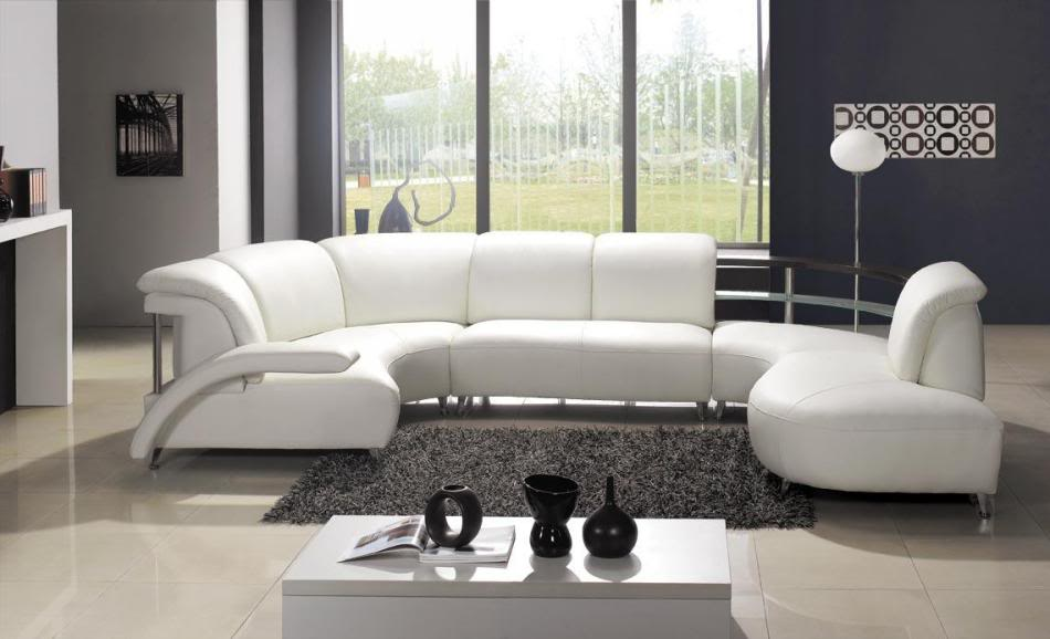 Picture of: luxury white sectional sofa