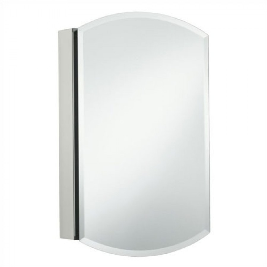 Image of: minimalist mirrored medicine cabinet