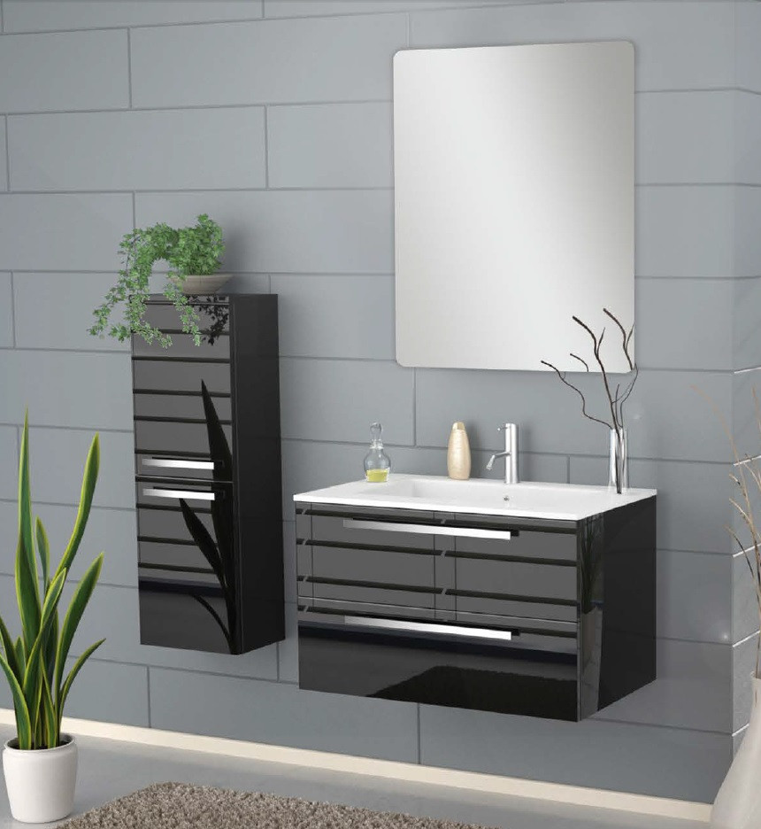 Image of: modern bathroom linen cabinets