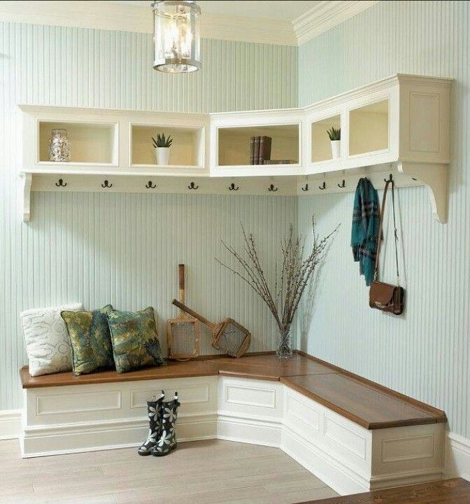 Image of: mudroom bench design L
