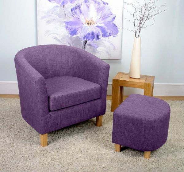 Picture of: purple tub chair color