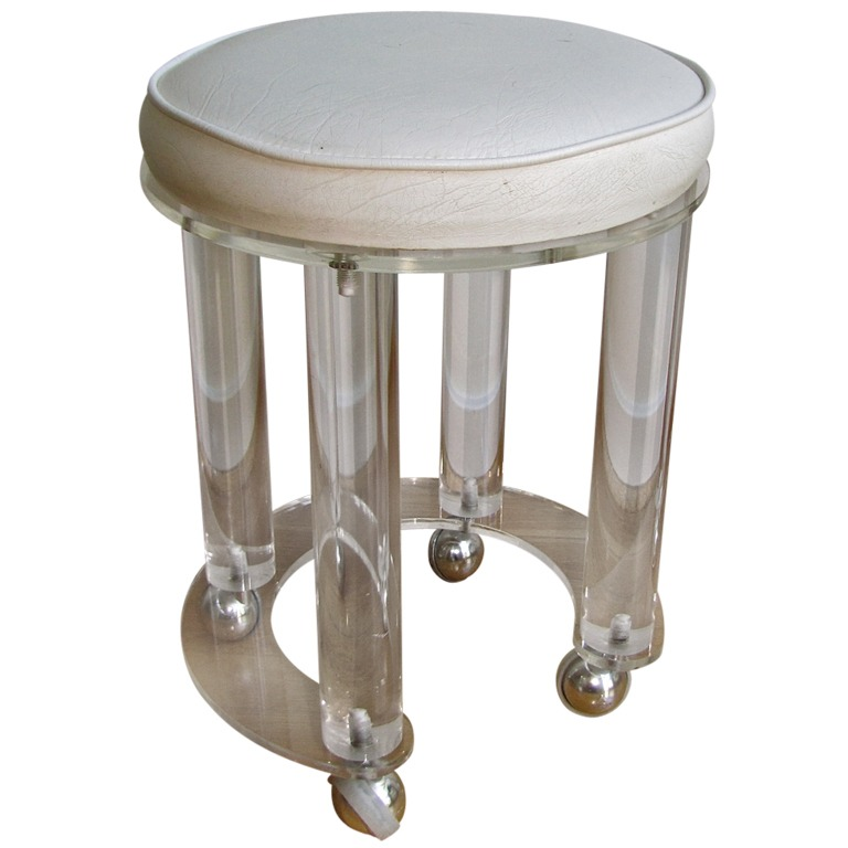 Picture of: round vanity stool