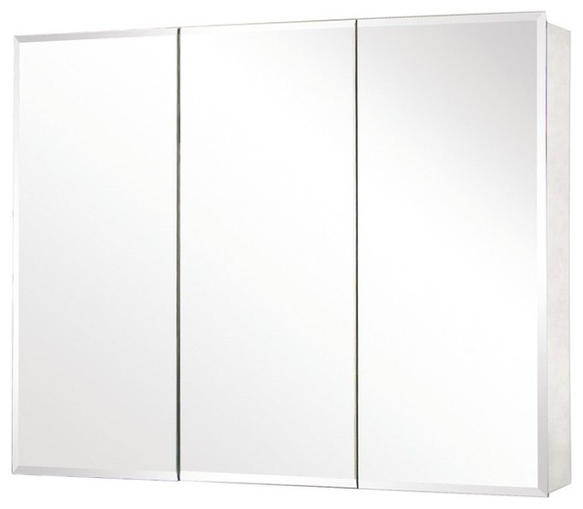 Image of: simple mirrored medicine cabinet