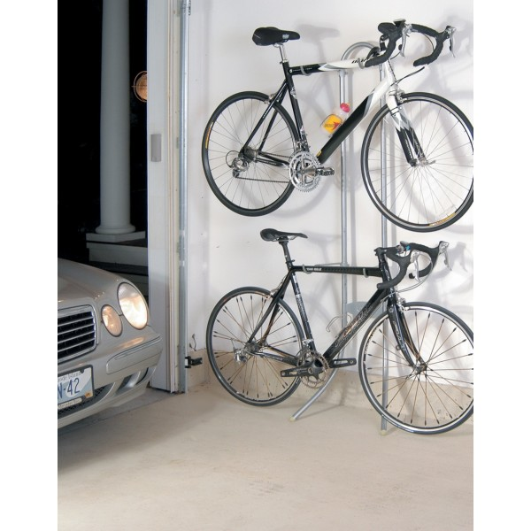 Image of: small bike rack garage